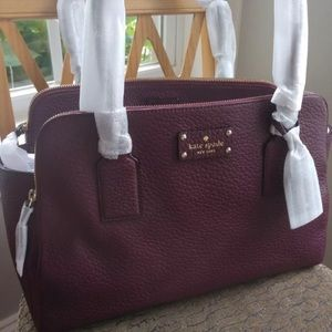 Authentic Kate Spade Lydia leather burgundy bag❤️